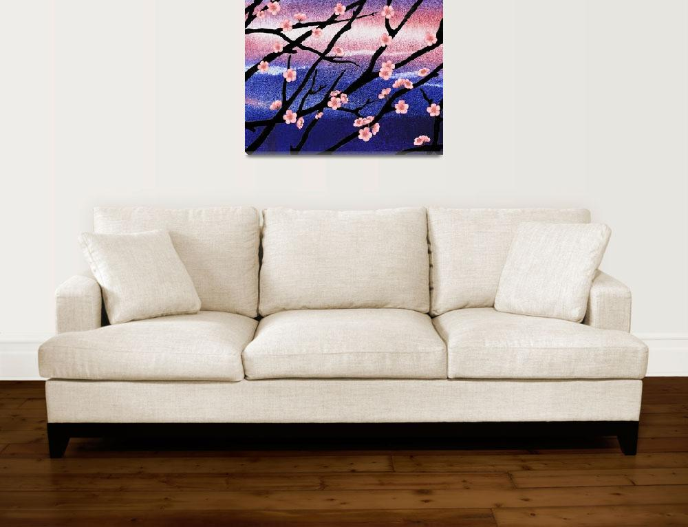 """Cherry Blossoms Decorative Painting""  (2015) by IrinaSztukowski"