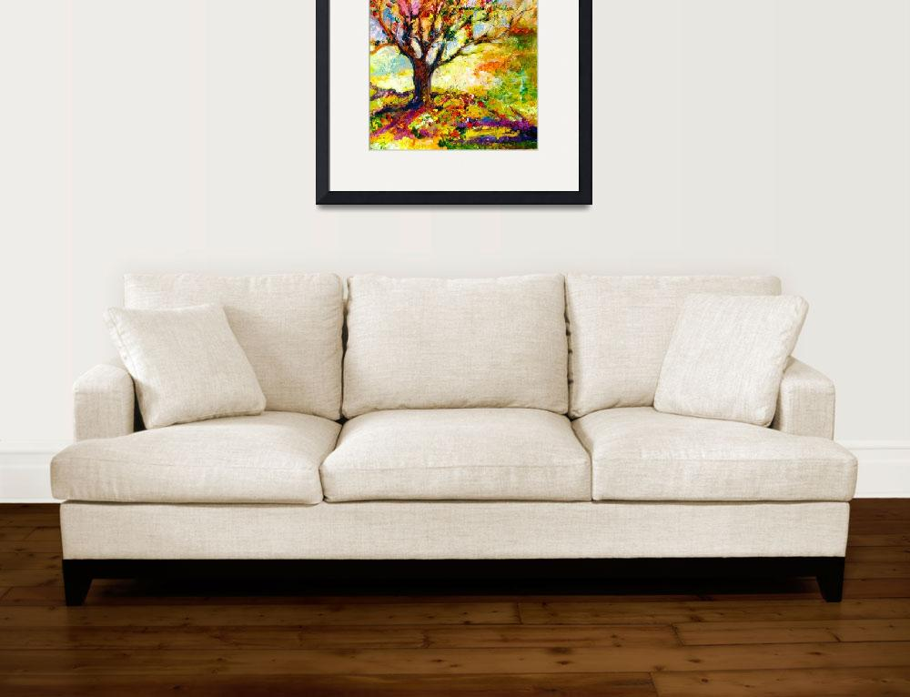 Abstract grandmas apple tree by ginette 2012 by ginettecallaway