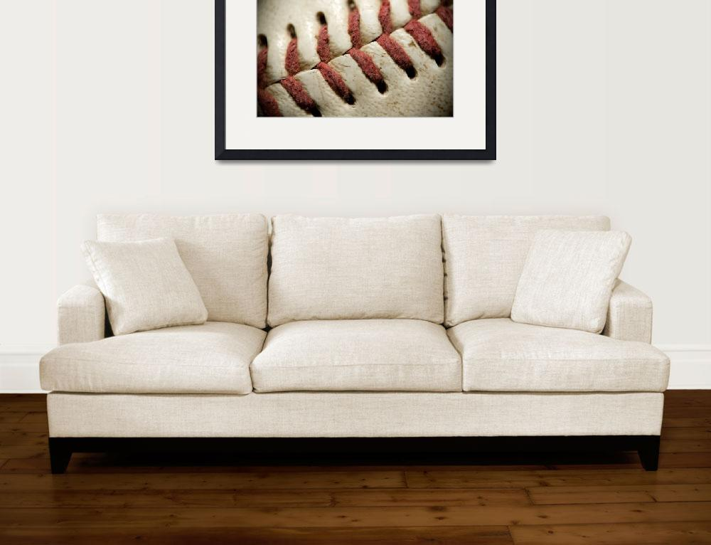 """""""Baseball Stitches""""  (2011) by SquidPhotos"""