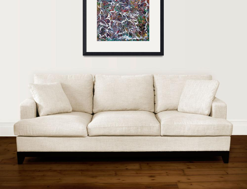 """""""Abstract Multicolor with White Swirls&quot  by alexanderweinstein"""