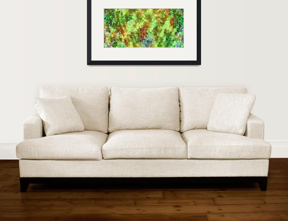 """""""Abstract moss&quot  (2016) by JapoArt"""