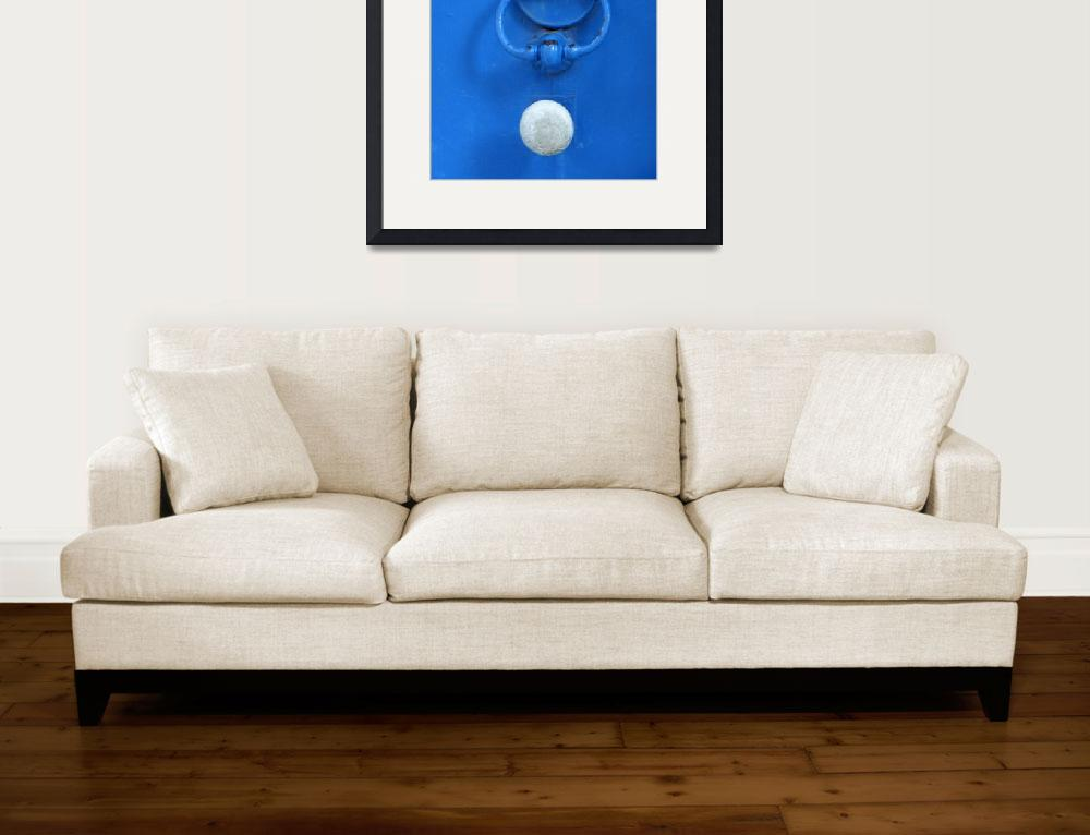 """""""White Door Knob on Blue Door&quot  (2010) by lainiewrightson"""