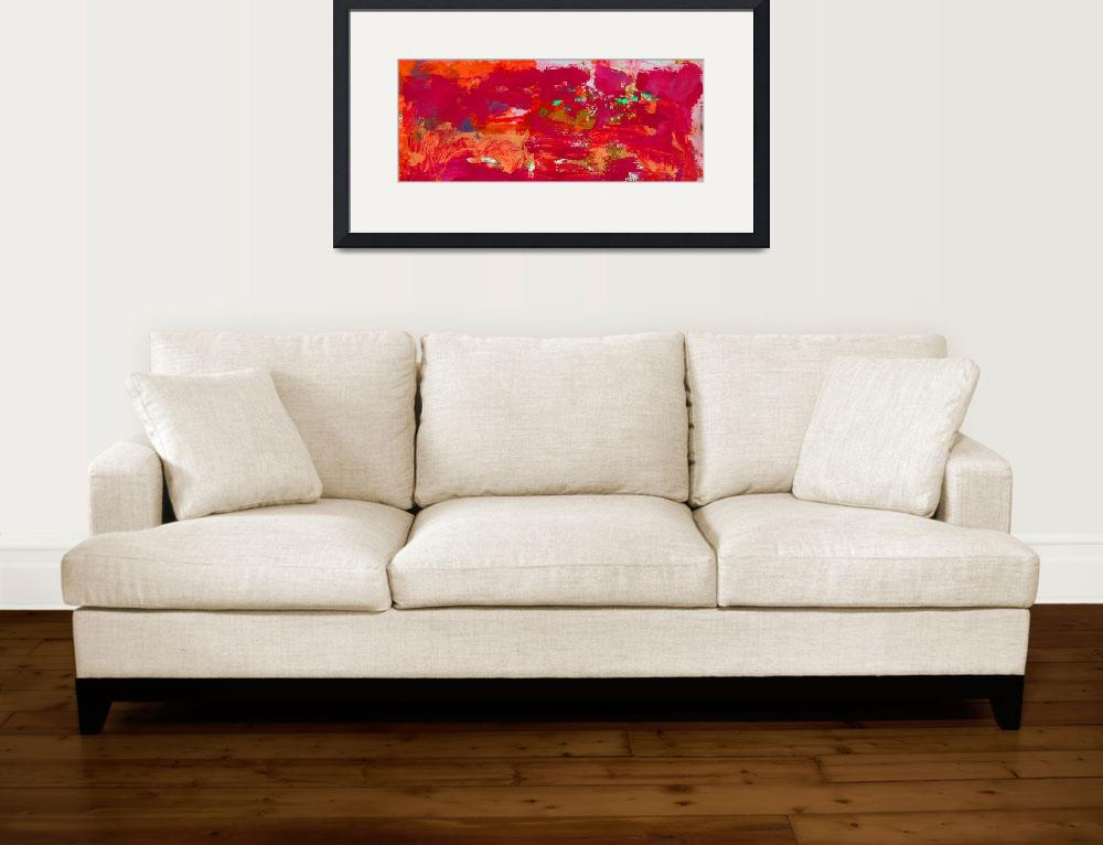 """""""Abstract Red Passion&quot  (2017) by RDRiccoboni"""