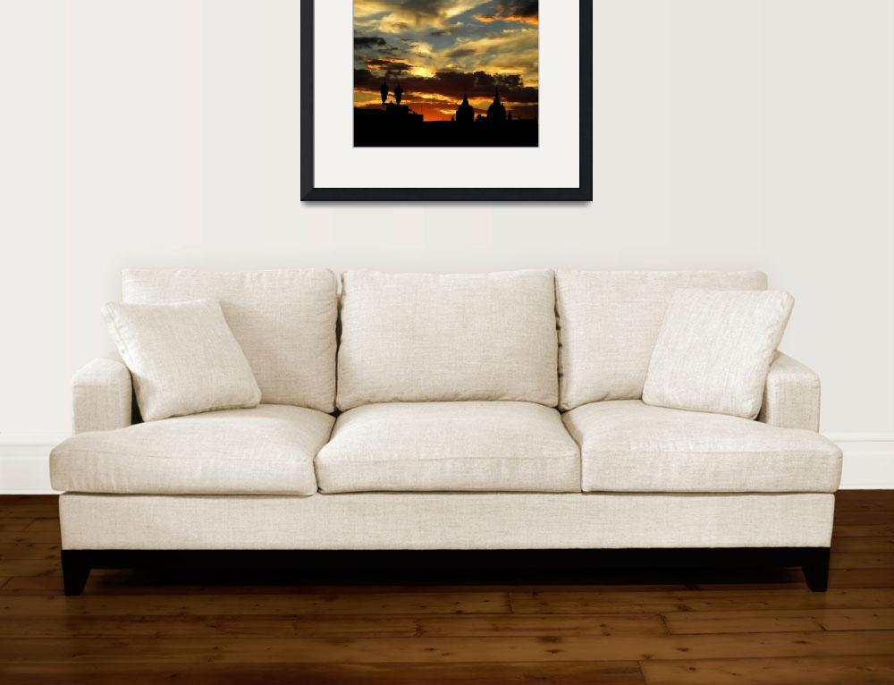 """""""Dramatic Sunset&quot  (2007) by ldfranklin"""