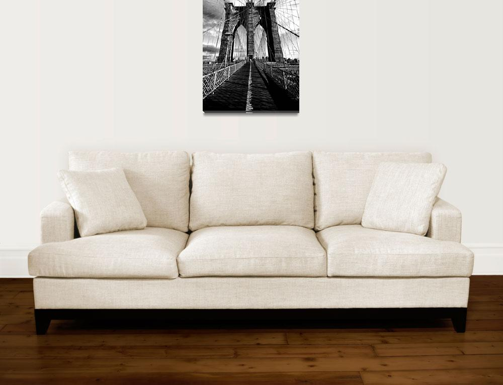 """""""Upon the Brooklyn Bridge Tower""""  (2010) by New-Yorkled"""