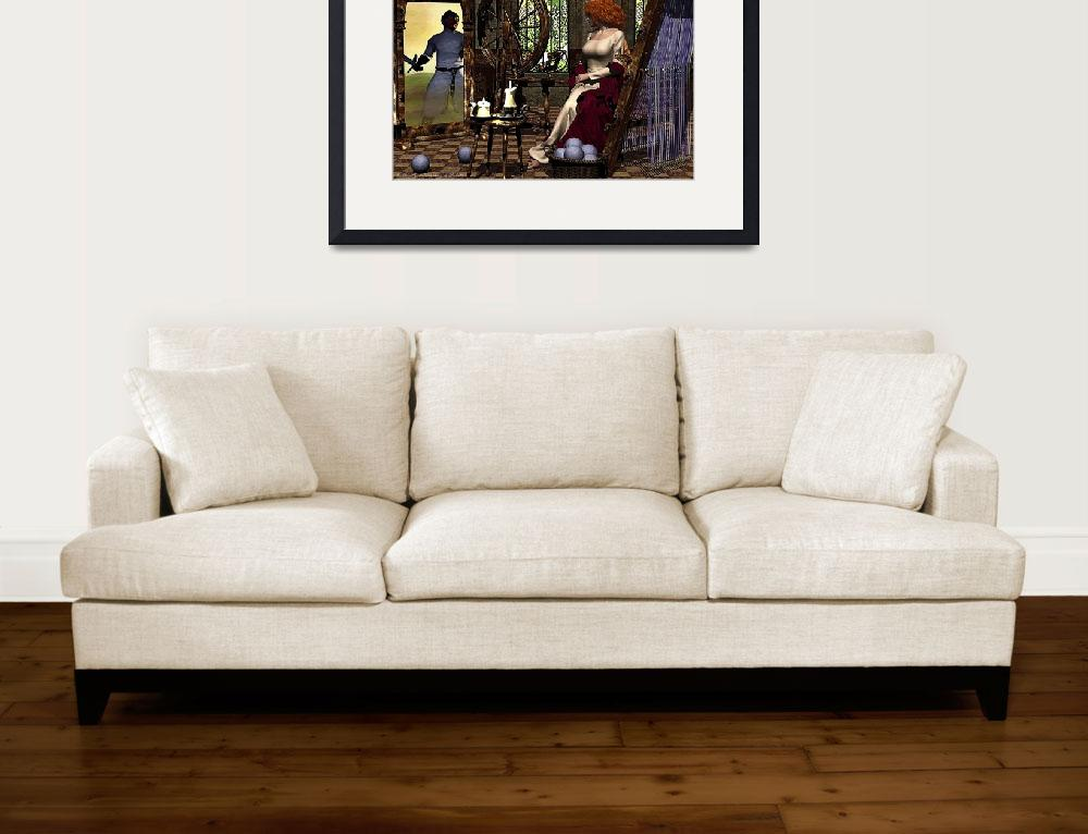 """""""Lady of Shalott 1 - signed&quot  (2014) by AidanaWillowRaven"""
