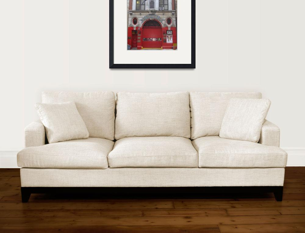 """Engine 55 Fire House, Little Italy, New York""  by thatofficegirl"