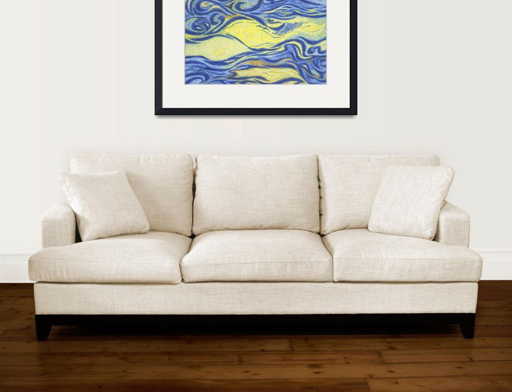 """Fine Art Prints Sky Sun Contemporary Modern Deco&quot  (2008) by BasleeTroutman"