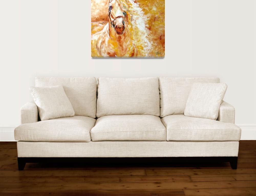 """GOLDEN GRACE ANDALUSIAN by M BALDWIN FINE ART""  (2009) by MBaldwinFineArt2006"