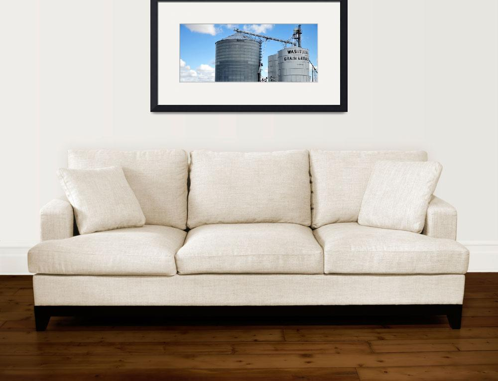 """""""Washtucna Grain Growers Bins&quot  (2010) by jerrysodorffphotography"""