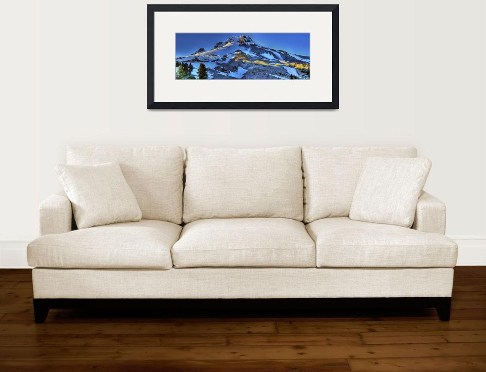 """""""0204 Mount Hood Panoramic&quot  (2010) by vincentlouis"""