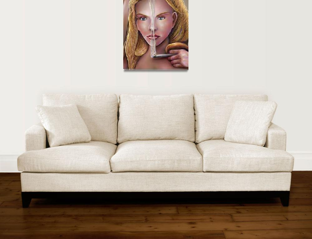"""Elizabeth, Smoke Does Not Get Into Her Eyes""  (2009) by stephenthedigitalartist"