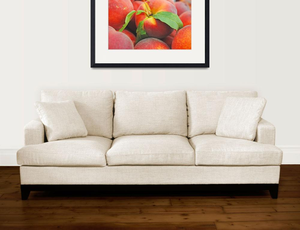 """""""Fresh Peaches on Display&quot  (2010) by TheHiddenStudio"""