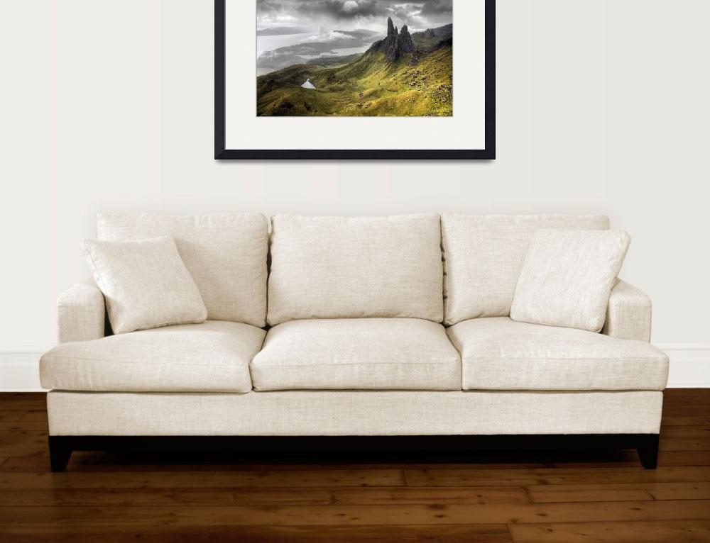 """Jagged peaks in the wilds of Scotland&quot  by artlicensing"
