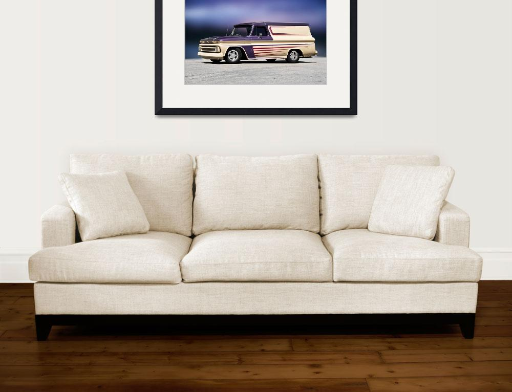 """""""1966 Chevrolet C10 Panel Truck I&quot  (2017) by FatKatPhotography"""