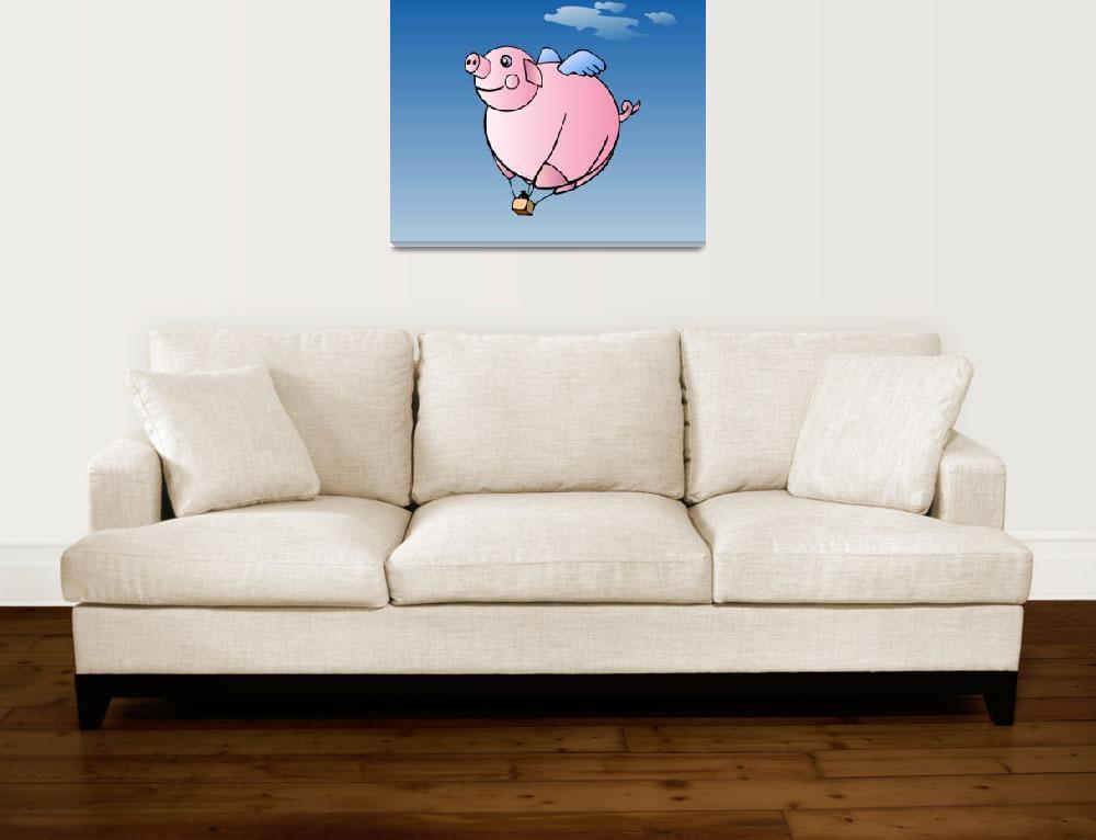 """Hot Air Pig&quot  (2011) by lesteryocum"