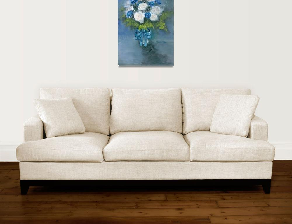 """""""Flowers From My Love Oil on Canvas""""  by misook"""