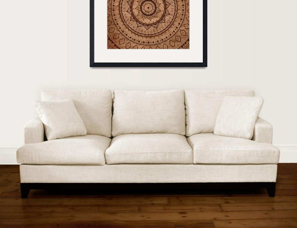"""Mandala. Hand drawn Ethnic vintage pattern.&quot  by katyau"
