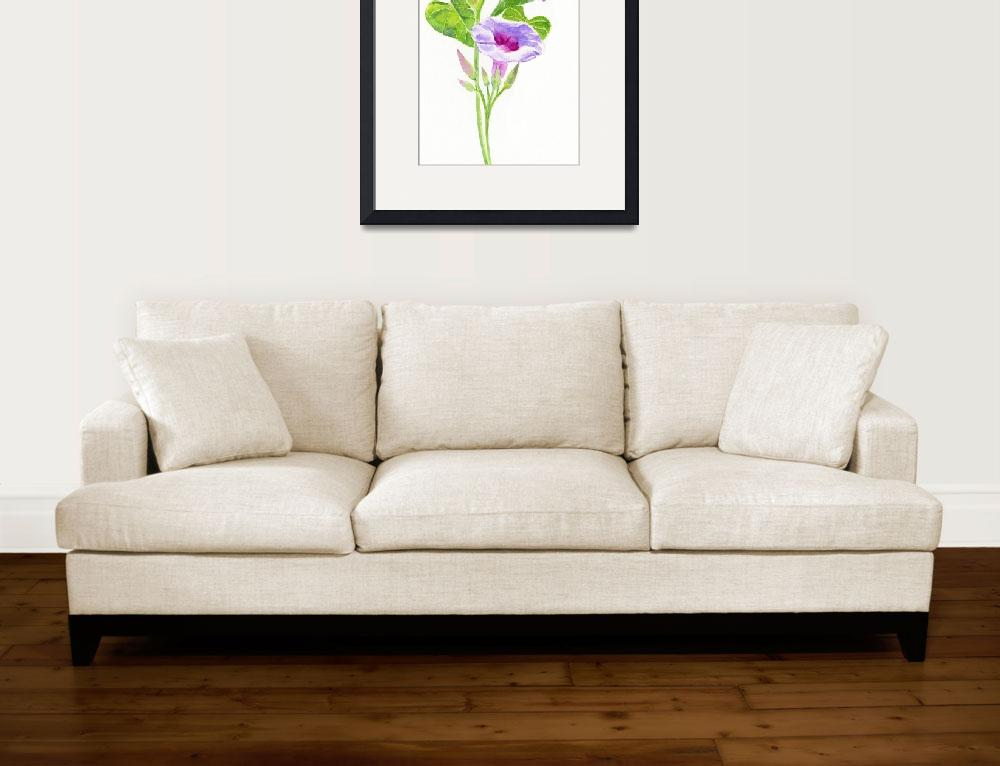 """""""Lavender Morning Glories""""  (2013) by Pacific-NW-Watercolors"""