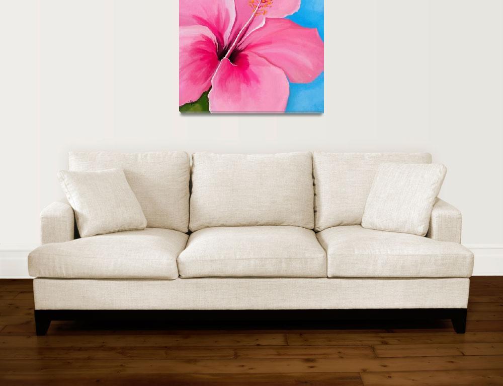 """hibiscus happiness""  (2019) by tammyleebradley"