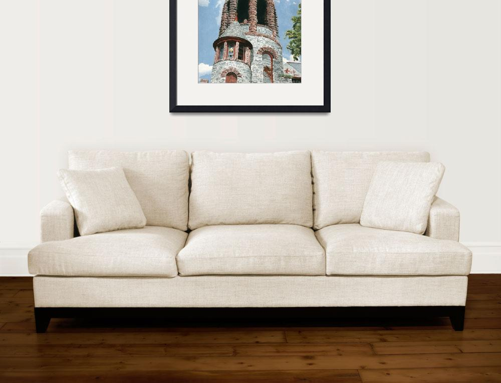 """""""The Bell Tower at Saint Lawrence Church&quot  (2005) by dominicwhite"""