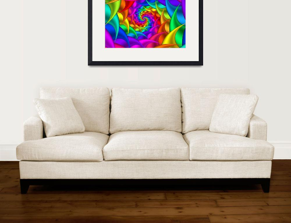 """Psychedelic Rainbow Spiral""  (2011) by kittybitty"
