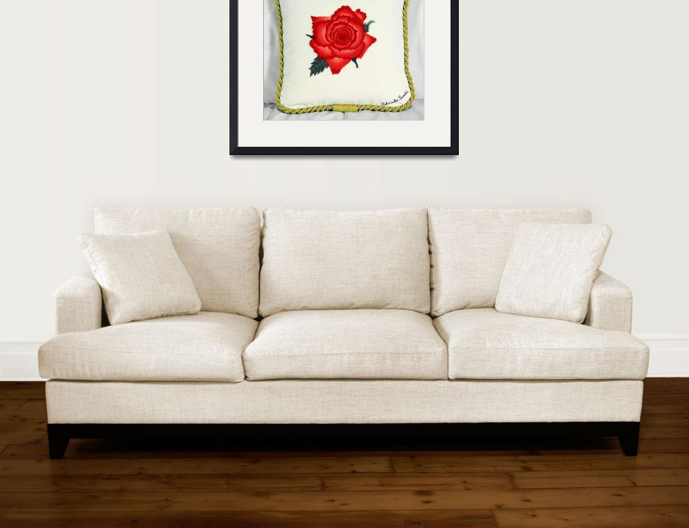 """""""Red Rose&quot  (2000) by zdravkaboncicfourtounis"""