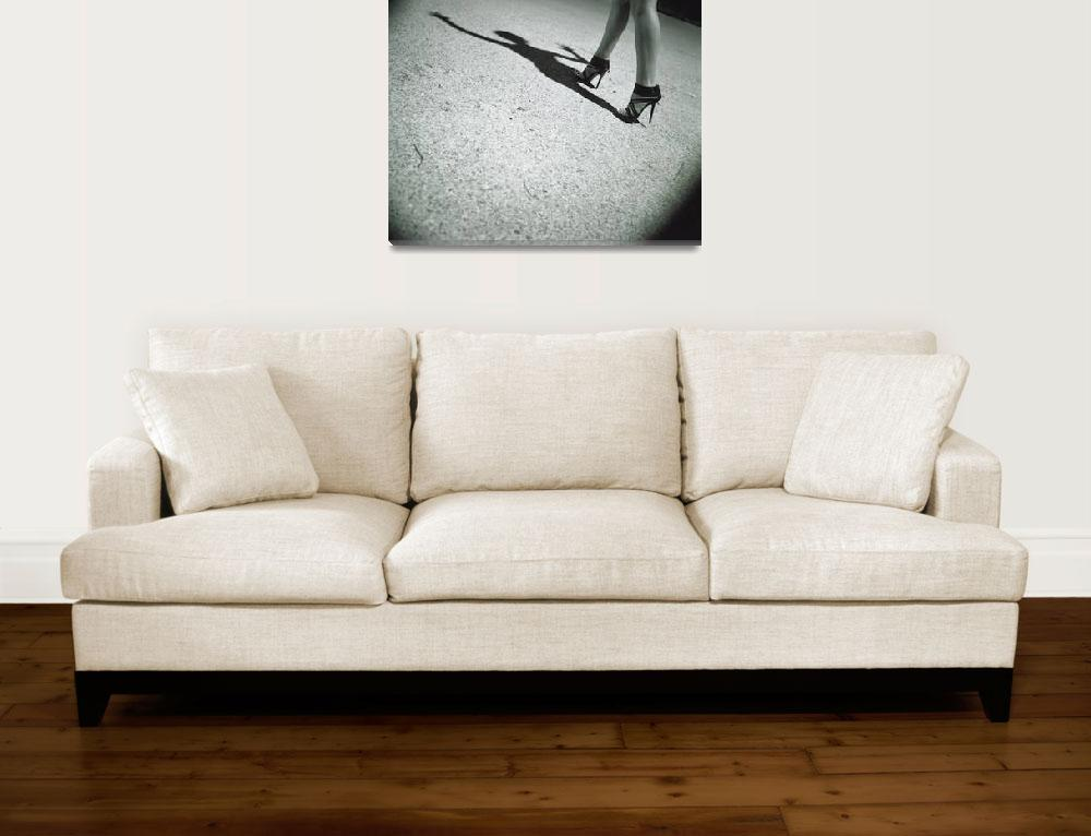 """""""Spirit surreal sexy  legs black and white silver&quot  (2011) by edwardolive"""