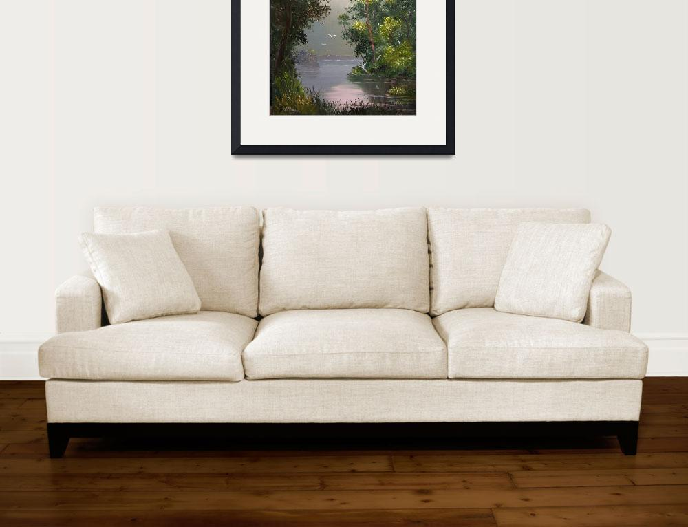 """""""Misty River View&quot  (2008) by mazz"""
