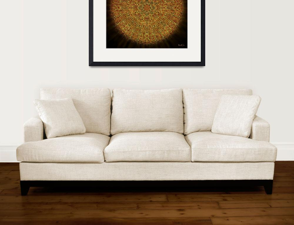 """Mayan Frisbee Sunset Mandala&quot  (2014) by richardhjones"