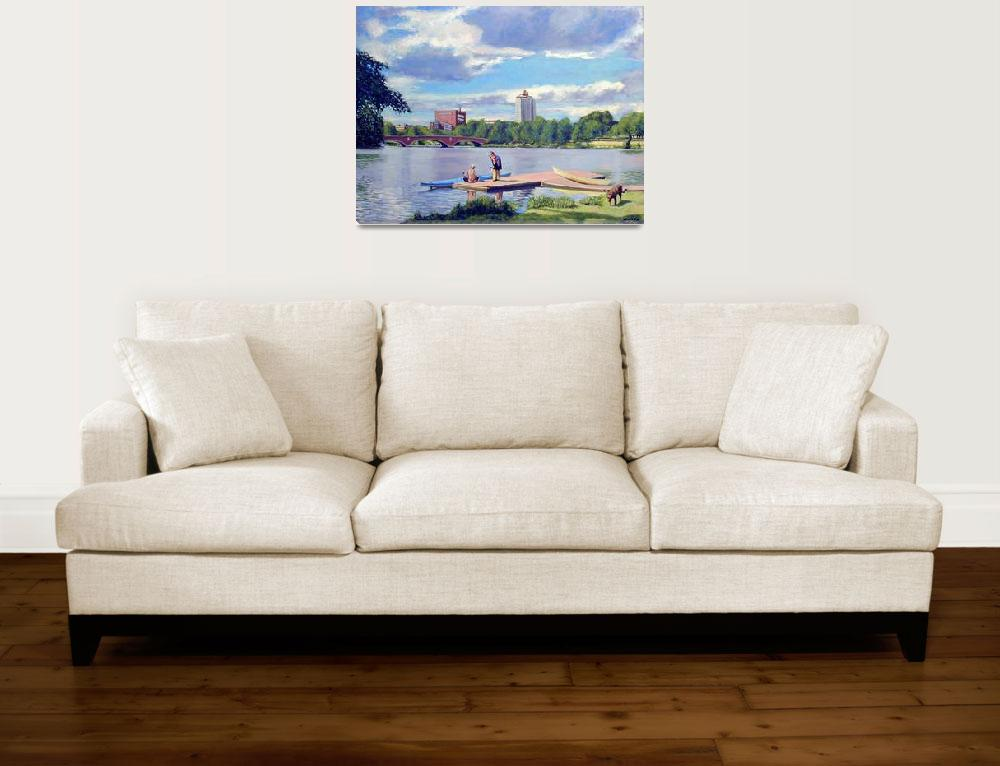 """""""Boating on the Charles&quot  (2008) by AngeloJAversa"""