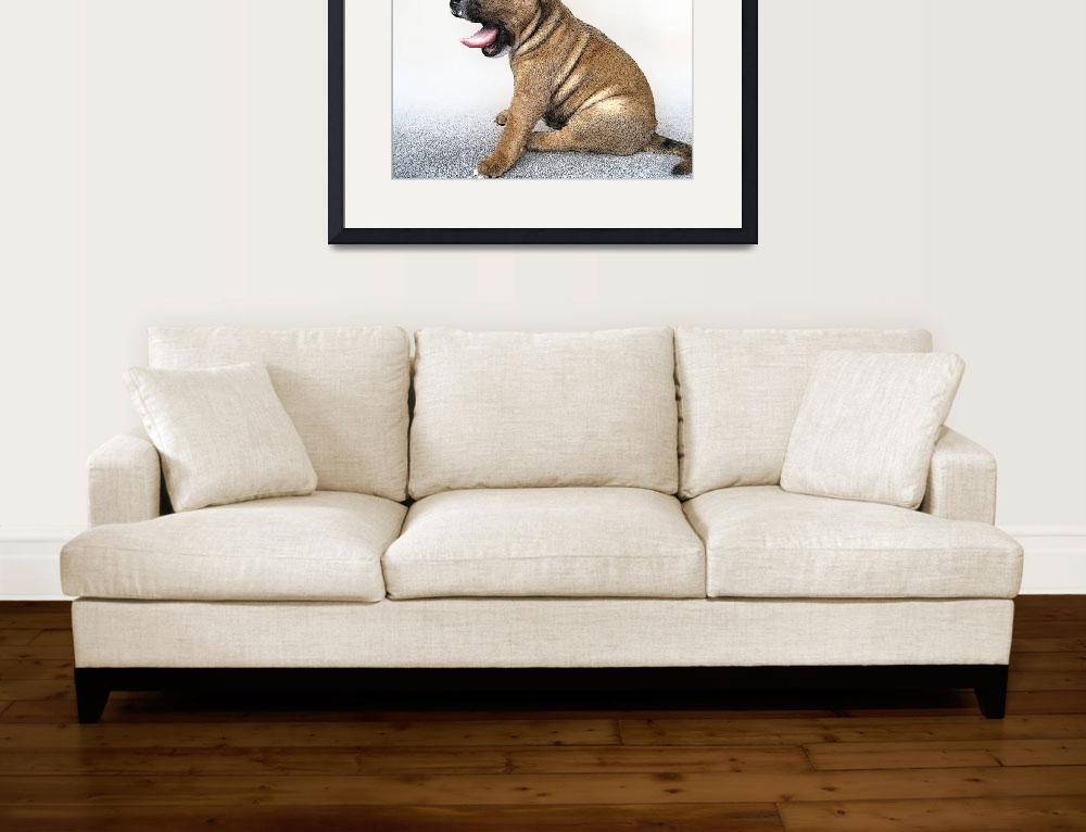 """Staffordshire Bull Terrier Puppy, Art Print""  (2008) by ModernArtPrints"