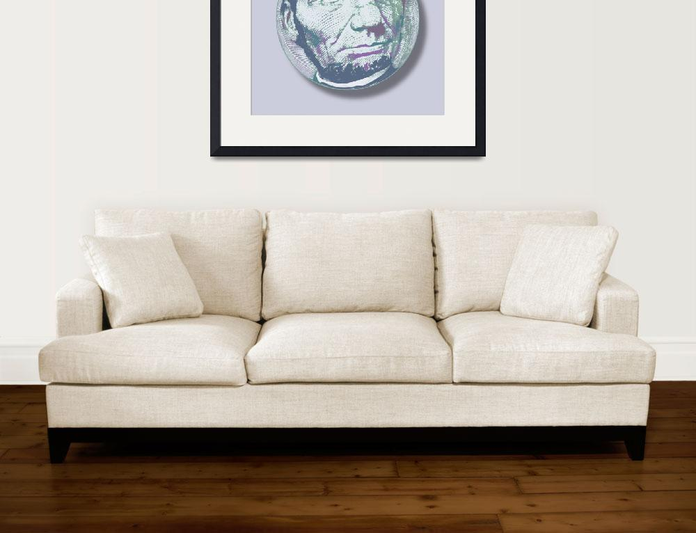 """""""Abraham Lincoln Orb""""  (2014) by RubinoFineArt"""