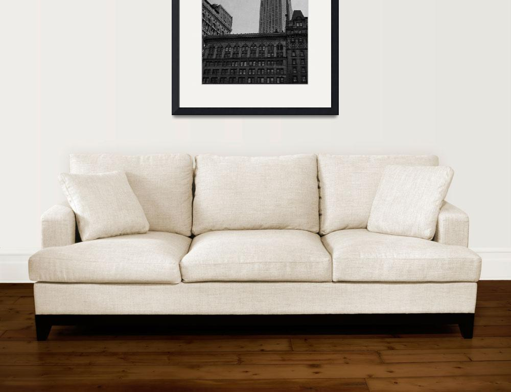 """""""Empire State Building and Flying Dove&quot  (2009) by mrmarrocos"""