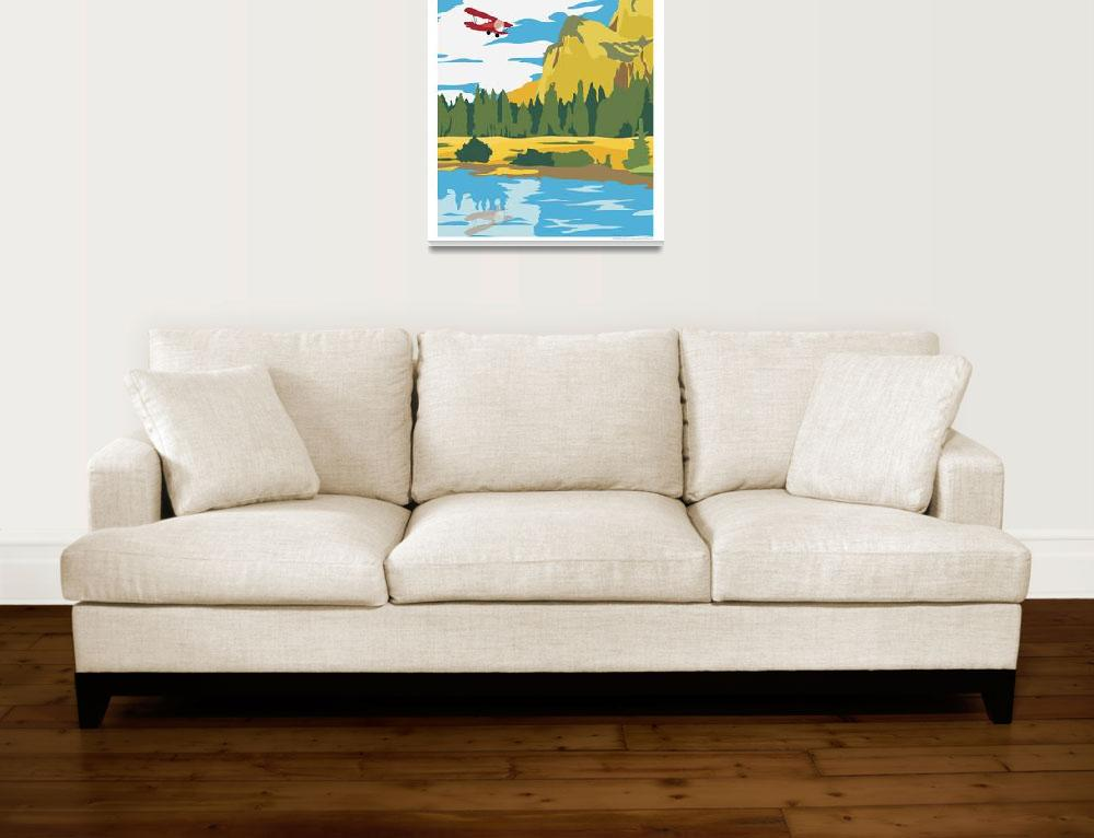"""Fly Yosemite by Kent AIr Art""  (2008) by HamAviation"