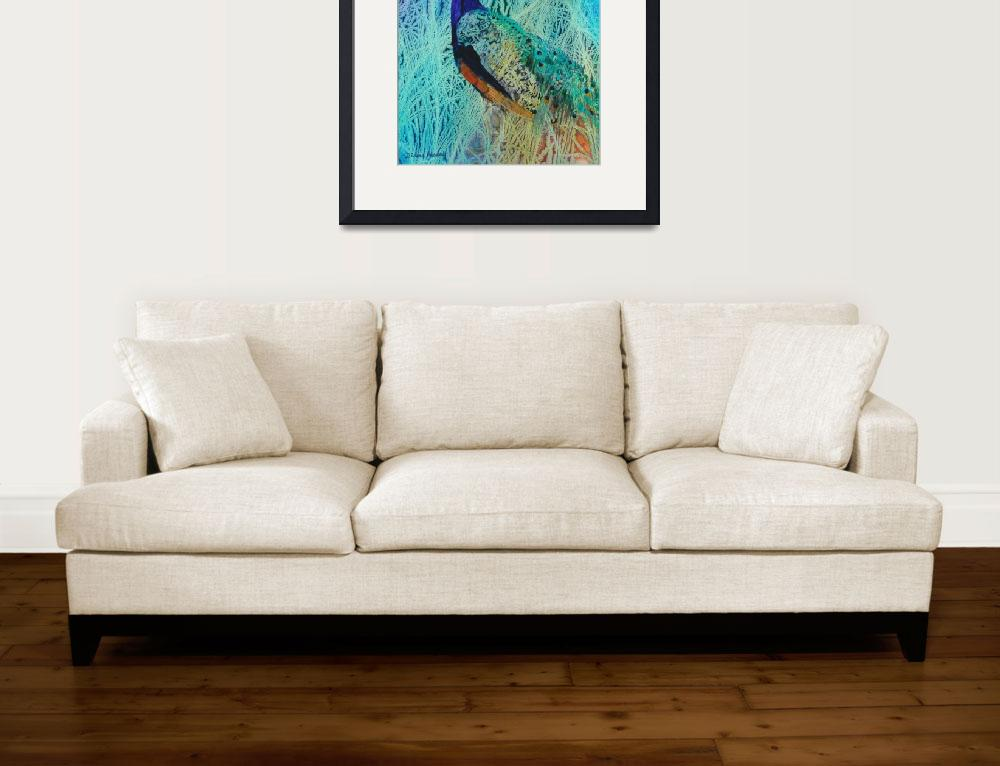 """""""Peacock in Paradise""""  (2015) by DianaNadalFineArt"""
