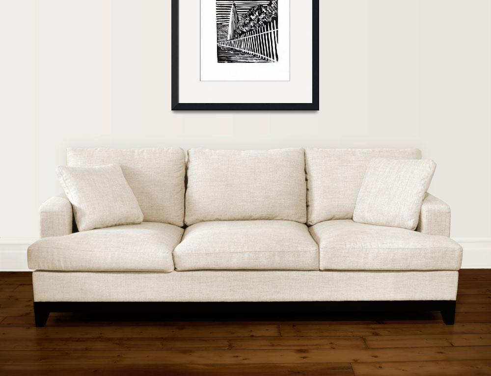 """""""Fine art black and white print of etching of histo""""  (2016) by RFoxWatercolors"""