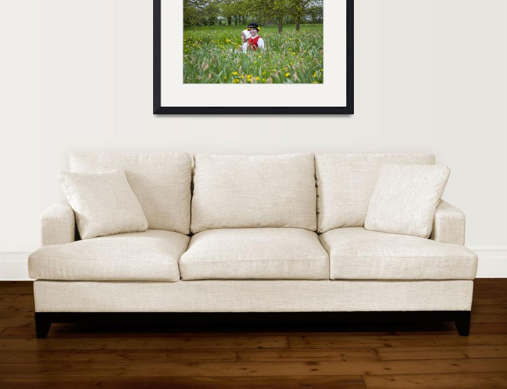 """""""Tudor children among the daffodils&quot  (2010) by daveturnerphotography"""