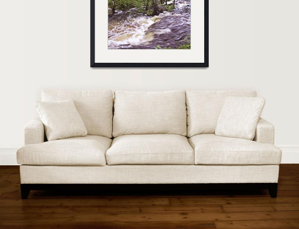 """""""mill-pond-waterfall-18x12&quot  by sacorivergraphics"""