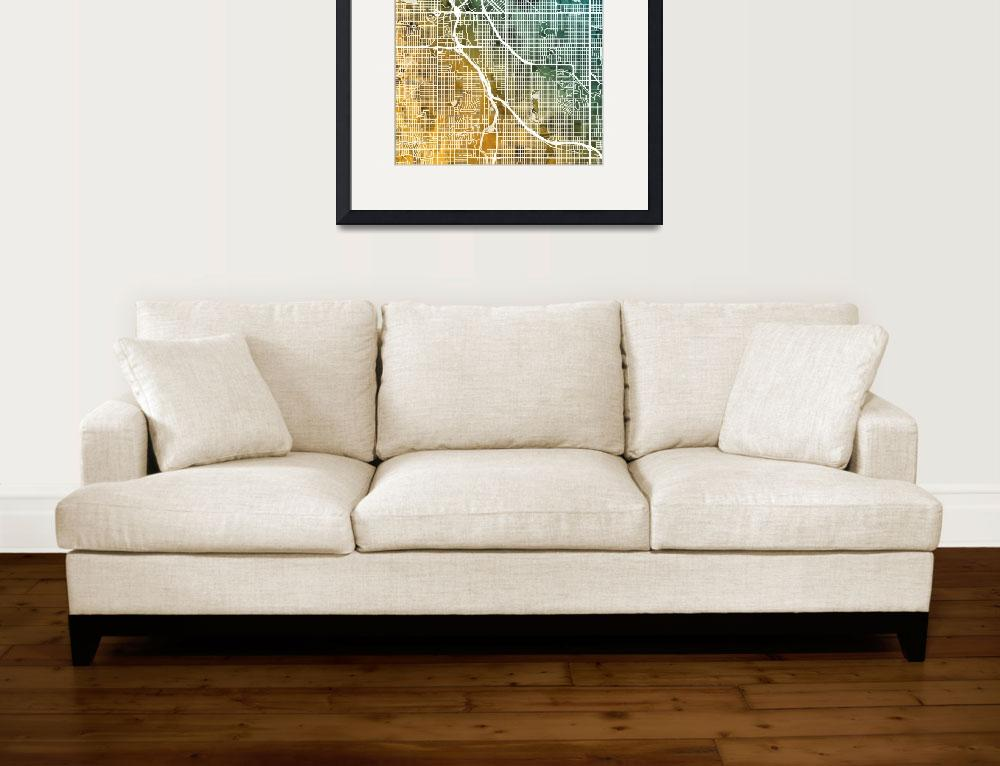 """Denver Colorado Street Map&quot  (2018) by ModernArtPrints"