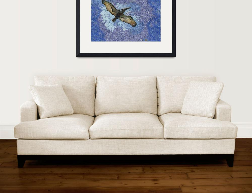 """""""Van Gogh Style Pelican&quot  by EyeInVision"""