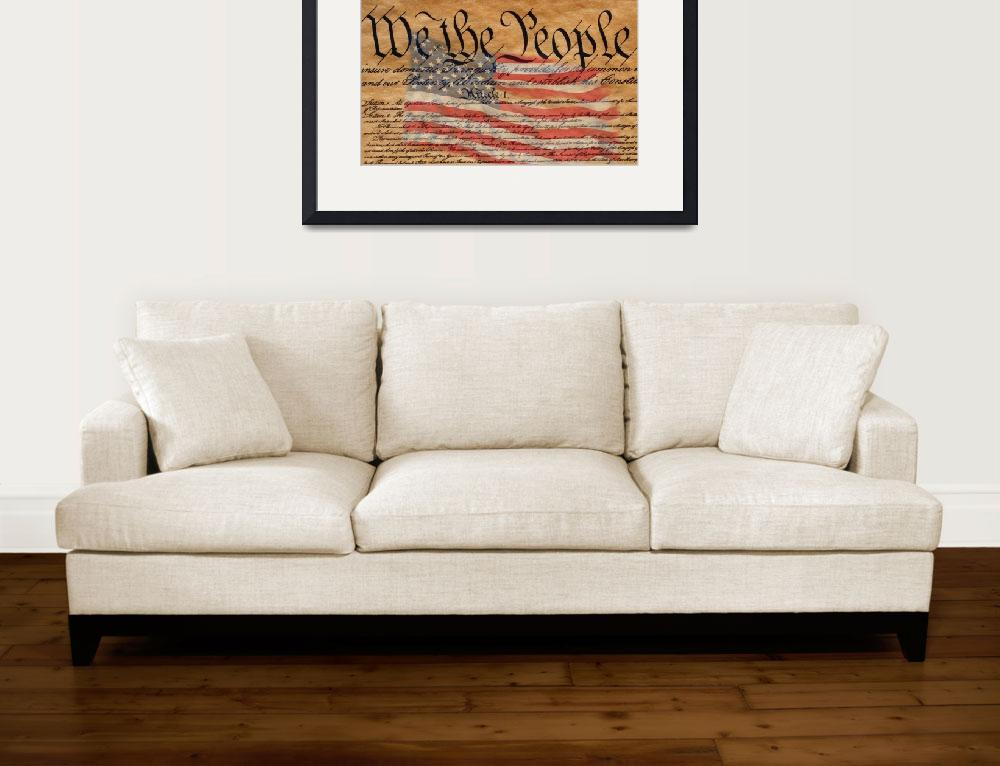 """""""Declaration of Independence and U.S. Flag&quot  by Panoramic_Images"""