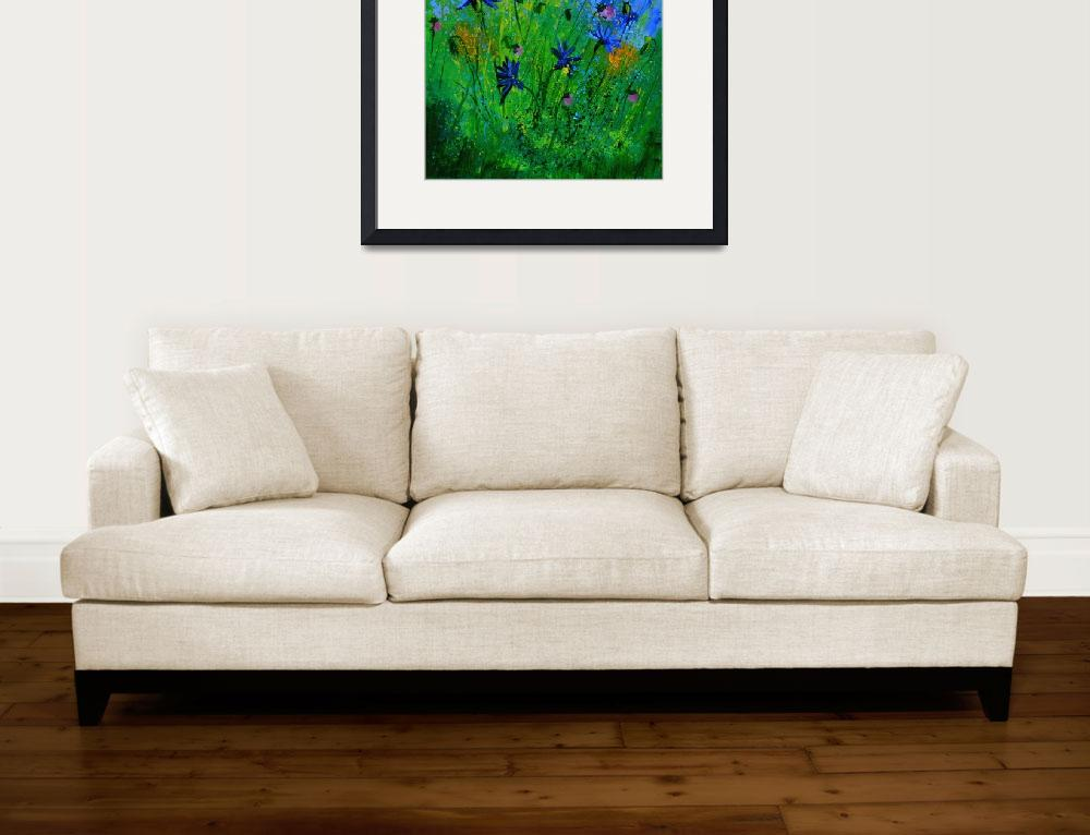 """blue cornflowers 4571&quot  by pol"