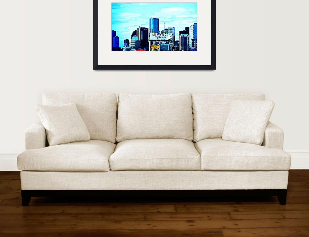 """City Skyline Art 4""  (2015) by positivebusinessdesigns"