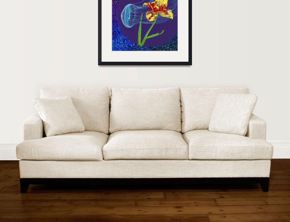 """""""Tulip and Jellyfish&quot  (2014) by jenniferbrewerstone"""