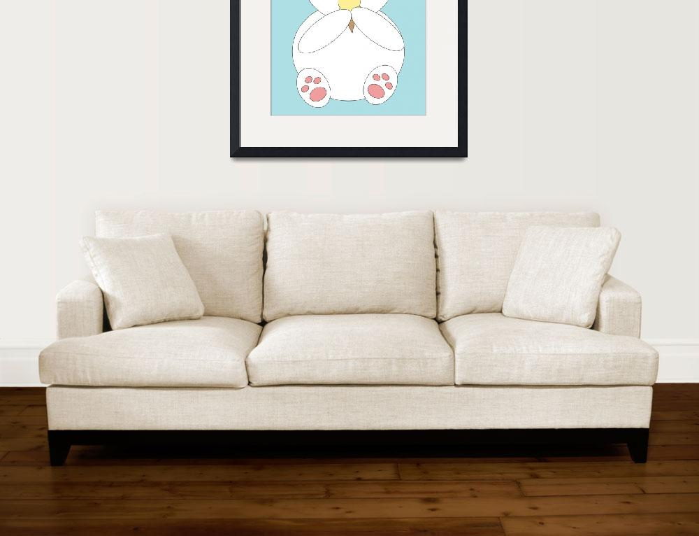 """""""Polar Bear Eating Ice Cream&quot  (2013) by ValeriesGallery"""