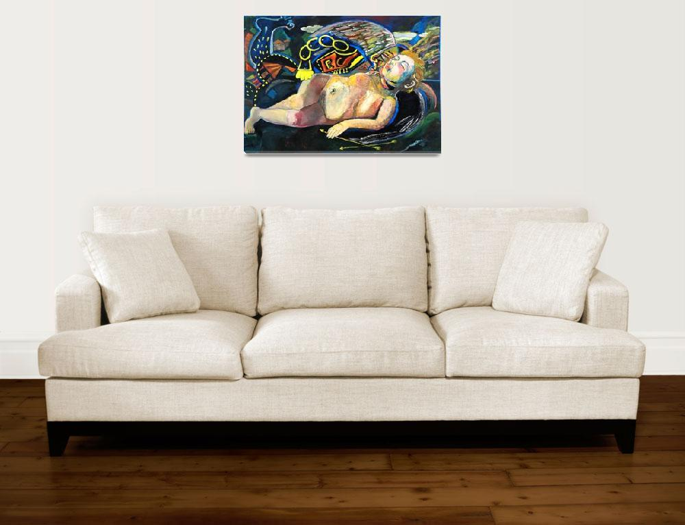 """""""After Caravaggio - Eros Asleep&quot  (2005) by marinapetri"""
