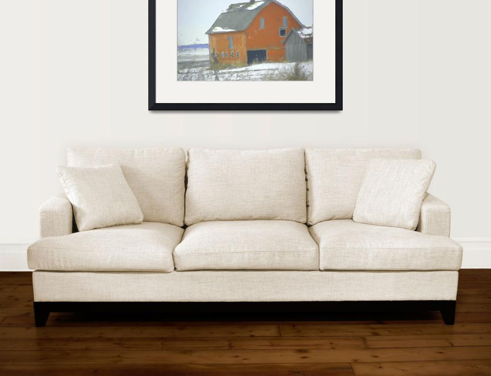 """""""Midwest Barns 23&quot  (2014) by lisaarundale"""