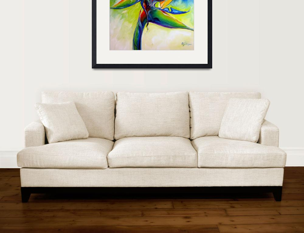 """""""BIRD OF PARADISE 24 by MARCIA BALDWIN&quot  (2008) by MBaldwinFineArt2006"""