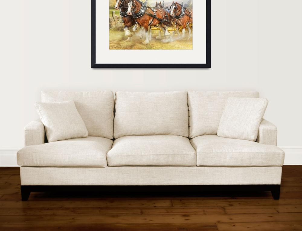 """""""Clydesdales in Harness&quot  (2015) by TrudiSimmonds"""